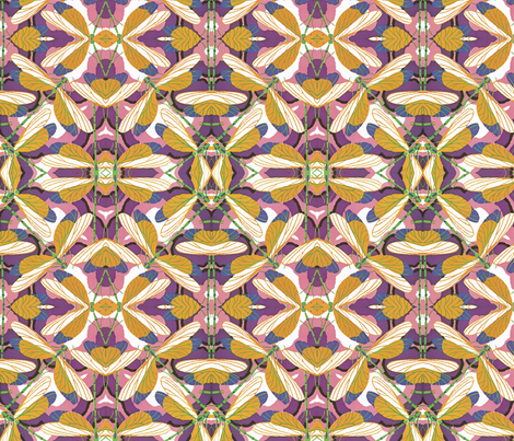 Dragonflies fabric by relative_of_otis on Spoonflower - custom fabric