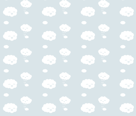 Cute Clouds fabric by eerie_doll on Spoonflower - custom fabric