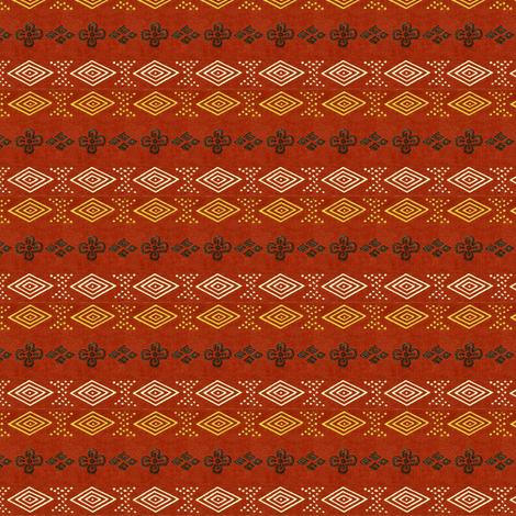 Honma Hayakuri Scarlet No. I 1906 fabric by maxje on Spoonflower - custom fabric