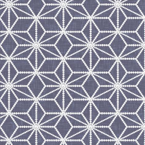 Hemp leaf pattern pearls on denim gray by Su_G fabric by su_g on Spoonflower - custom fabric