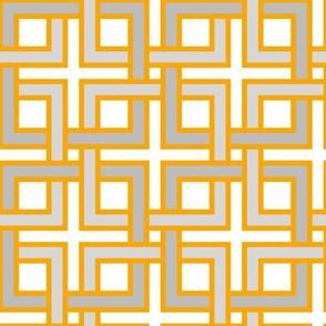 Interlocking squares orangeys