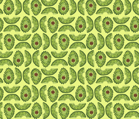 Doodly Avocados! fabric by katrinazerilli on Spoonflower - custom fabric