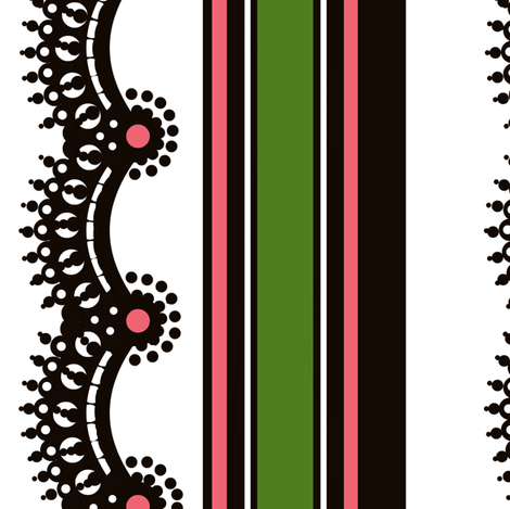 Queen's border fabric by paragonstudios on Spoonflower - custom fabric