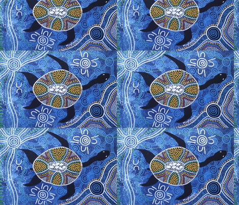 Turtle Dreaming fabric by novy on Spoonflower - custom fabric