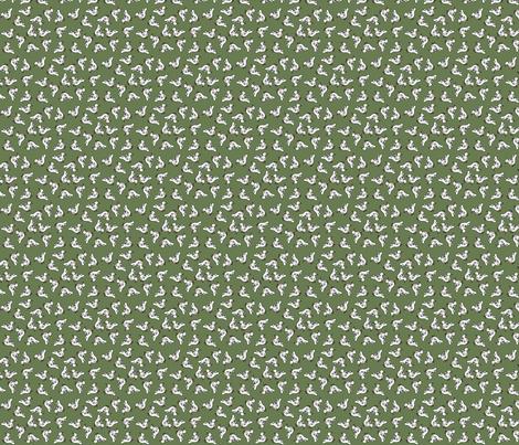 Tiny birds - green fabric by catru on Spoonflower - custom fabric
