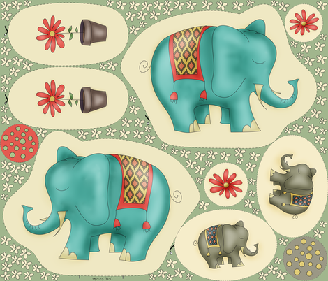 Dreamy Ellie - Plushie Cut & Sew Kit  fabric by catru on Spoonflower - custom fabric