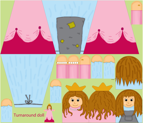 Turnaround doll fabric by celebrindal on Spoonflower - custom fabric