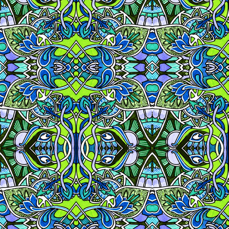 We Gotta Get Out of This Place (greens) fabric by edsel2084 on Spoonflower - custom fabric
