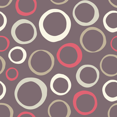 Circles fabric by martinaness on Spoonflower - custom fabric