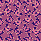 Purple butteflies