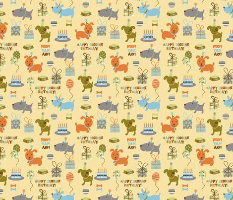 happy birthday doggies fabric by amel24 on Spoonflower - custom fabric