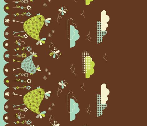 bird border print fabric by amel24 on Spoonflower - custom fabric