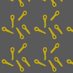 bubble wand grey and mustard