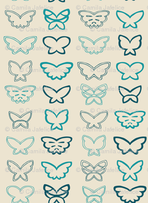 Tangled Butterflies I - Geometric