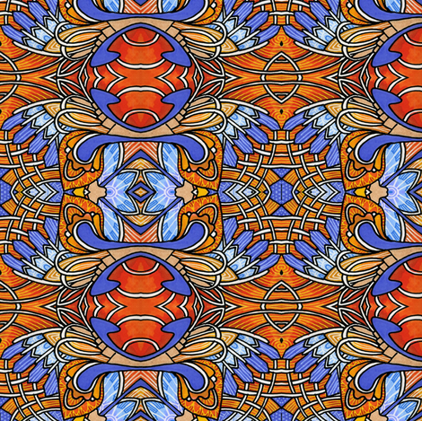 Land of the Rising Sunset fabric by edsel2084 on Spoonflower - custom fabric