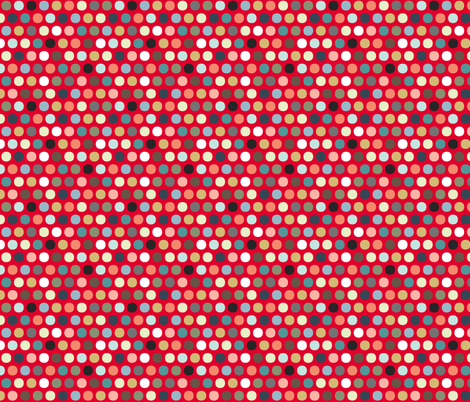 urban spot red fabric by scrummy on Spoonflower - custom fabric