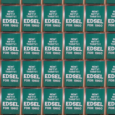 1960 Edsel advertising banner fabric by edsel2084 on Spoonflower - custom fabric