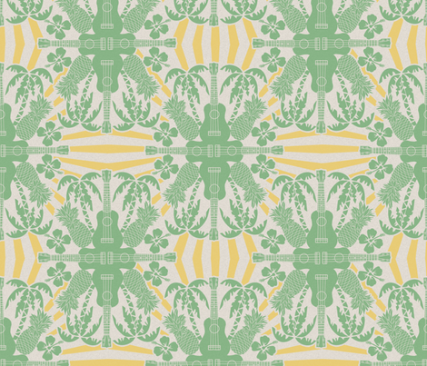 Aaaaaaaloha fabric by leeleeandthebee on Spoonflower - custom fabric