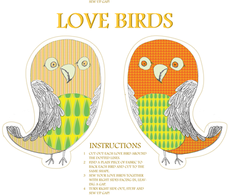 love birds toy fabric by sary on Spoonflower - custom fabric