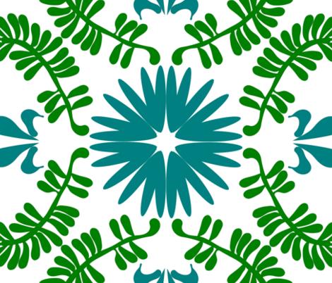 Hawaii-blues fabric by margarite on Spoonflower - custom fabric