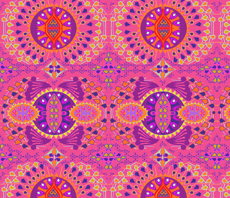 CALEIDOSCOPIO PINK fabric by maruqui on Spoonflower - custom fabric