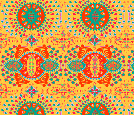 CALEIDOSCOPIO YELLOW fabric by maruqui on Spoonflower - custom fabric