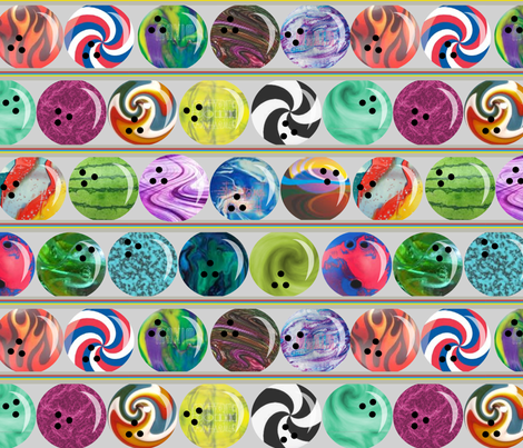 bowling fabric by lauredesigns on Spoonflower - custom fabric