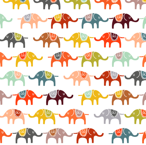 elephant march (half size) fabric by endemic on Spoonflower - custom fabric