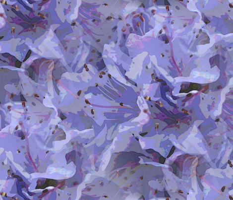 Blue rodondendron fabric by vib on Spoonflower - custom fabric