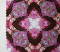 Mudejar pink & brown tiles