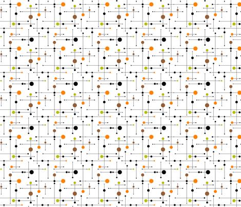 Ballastic (mini) - Green/Orange fabric by tonyanewton on Spoonflower - custom fabric