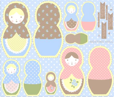 Nesting Doll fabric by eoskoch on Spoonflower - custom fabric