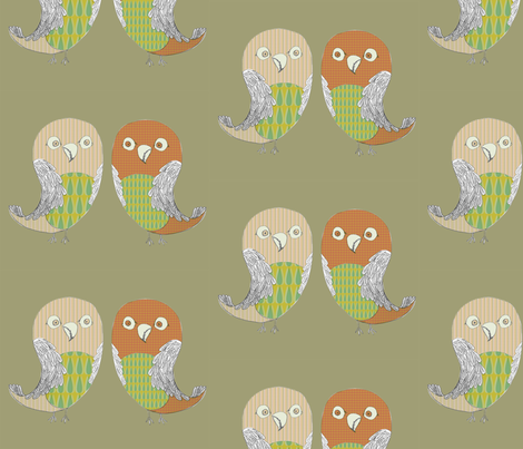 love birds fabric by sary on Spoonflower - custom fabric