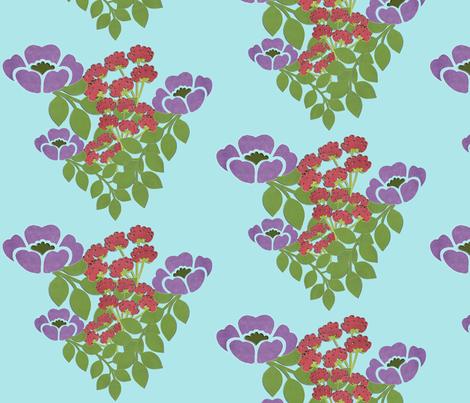 joyful_flowers fabric by snork on Spoonflower - custom fabric