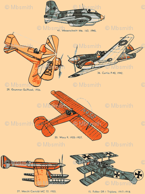 Vintage Airplanes Fabric Relative Of Otis Spoonflower