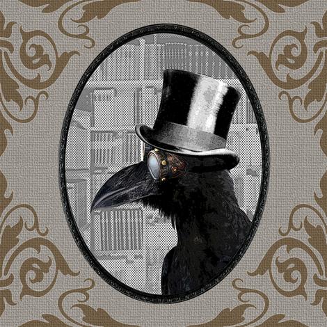 Crow Daddy v02 fabric by novelatelier on Spoonflower - custom fabric