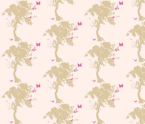 Pink by Nature fabric by thepinkhome on Spoonflower - custom fabric