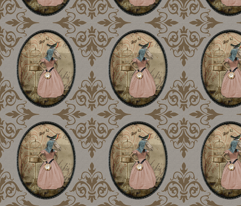 Time Keeper v02 fabric by novelatelier on Spoonflower - custom fabric