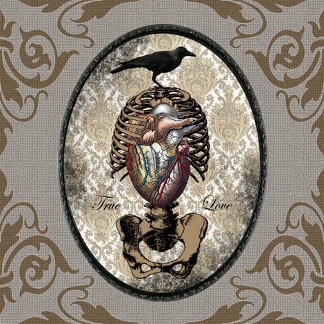 True Love v02 fabric by novelatelier on Spoonflower - custom fabric