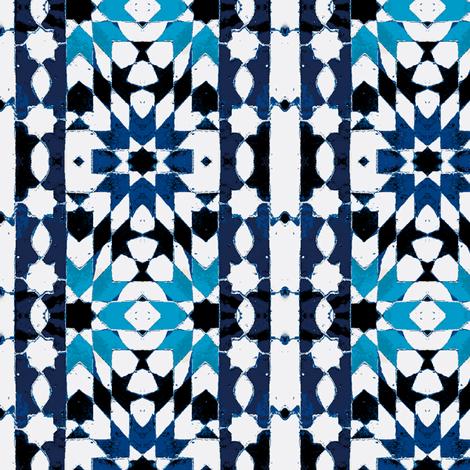 oriental mosaic batik blue-xxl-ch fabric by miss_blümchen on Spoonflower - custom fabric