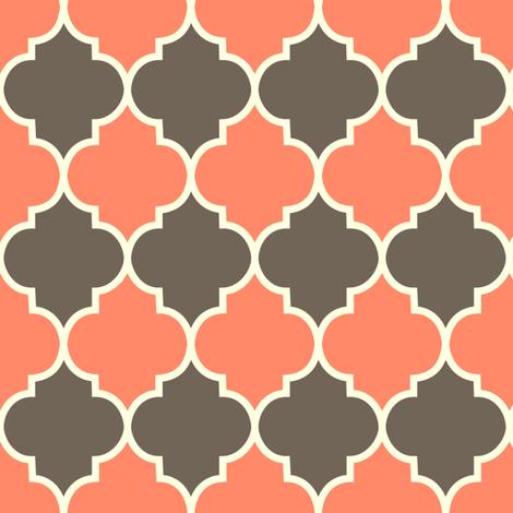 Moorish - coral & dark fabric by kayajoy on Spoonflower - custom fabric