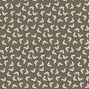 Tiny Birds - dark brown