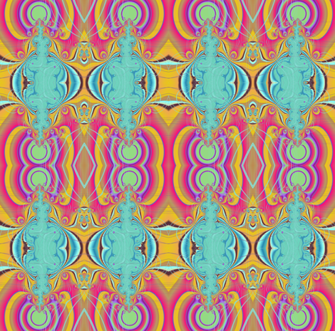 Psychedelic Monster fabric by eclectic_house on Spoonflower - custom fabric