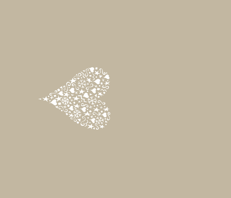 ornate_heart_white_teatowel fabric by karenmayo on Spoonflower - custom fabric
