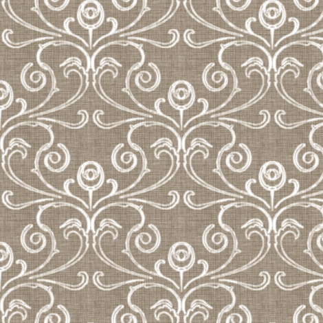 Petite Faded French Rose - Brown fabric by kristopherk on Spoonflower - custom fabric