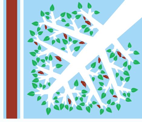 For the Birds (Hawaiian Quilt) fabric by leighr on Spoonflower - custom fabric
