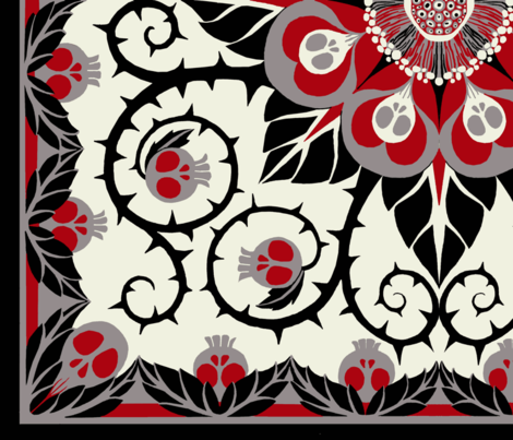 Deadly Nightshade- Suzani fabric by ceanirminger on Spoonflower - custom fabric