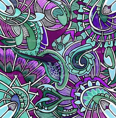 Aqua and Purple at play