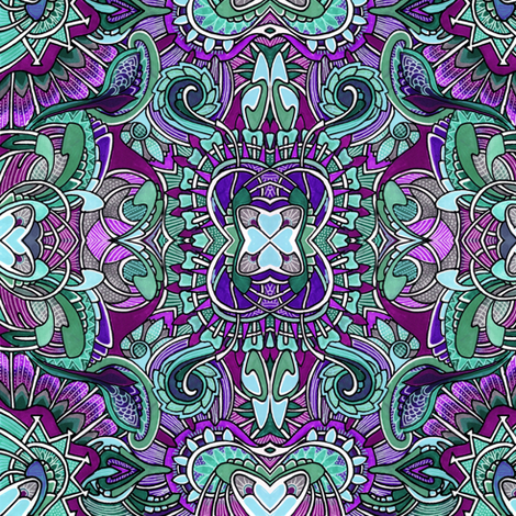 Aqua and Purple at play fabric by edsel2084 on Spoonflower - custom fabric