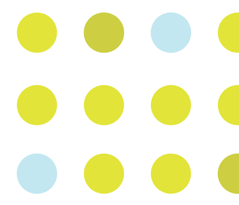 Spirited Dot Yellow fabric by jmstudio on Spoonflower - custom fabric